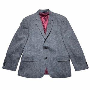 NWOT Tommy Hilfiger Gray Wool Blend Blazer 42S